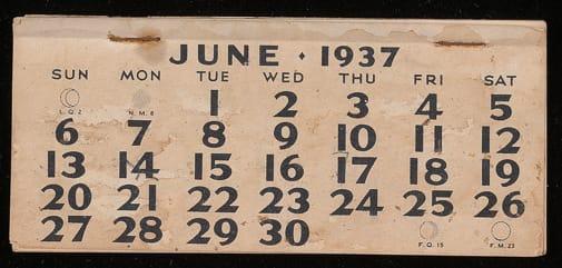 June 1937, recto