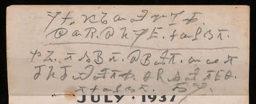 June 1937, verso